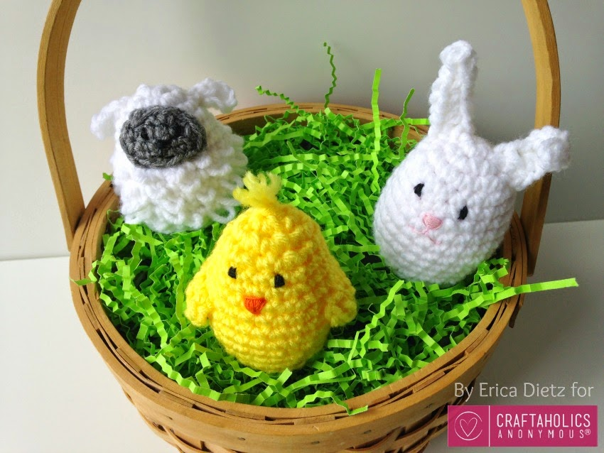5 Little Monsters Crocheted Easter Egg Covers On Craftaholics Anonymous