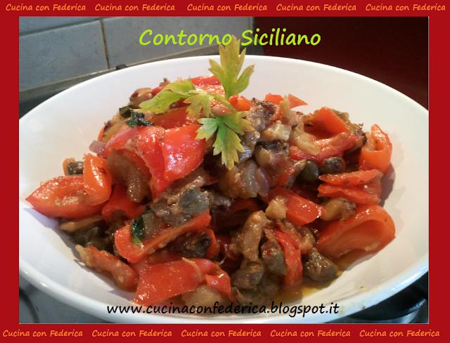 contorno siciliano (con peperoni, melanzane e capperi)