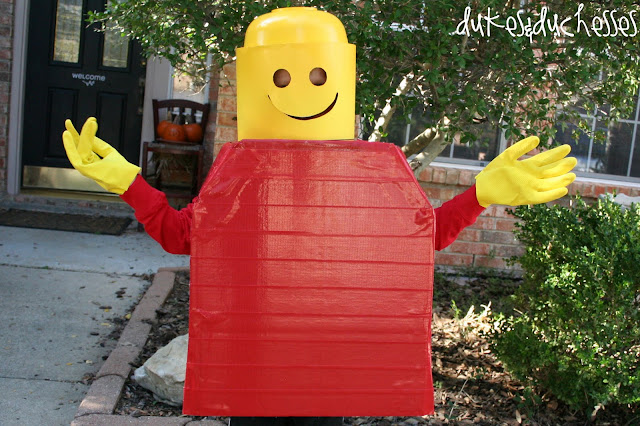 Lego Man costume - duct tape