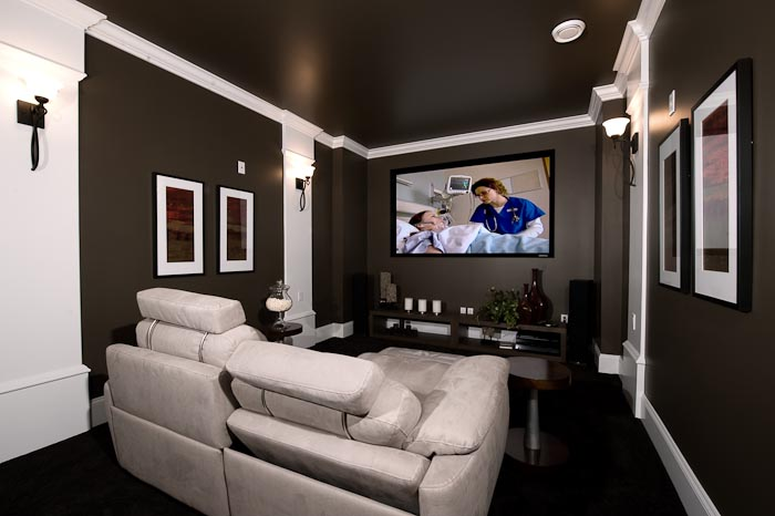 home theater bedroom design - Home Media Room Designs