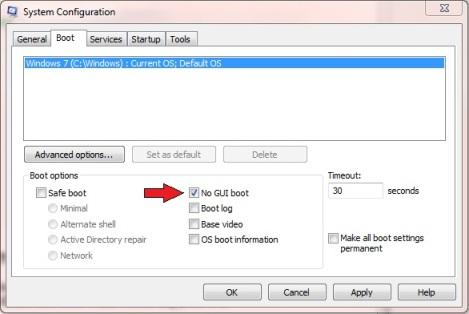 Don't display Windows splash screen during start up