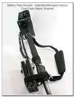 Battery Pack Bracket - Extended Monopod Version - Dual Flash Stand / Bracket
