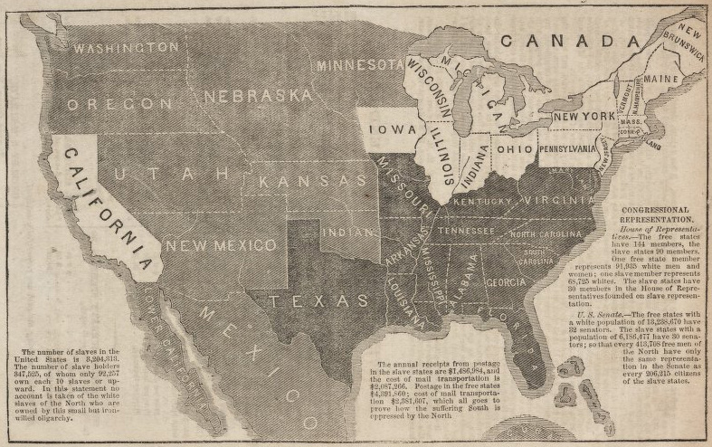 Antique Prints Blog Maps The Kansas Nebraska Act