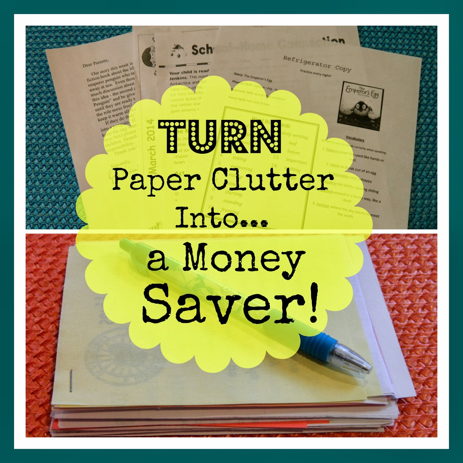 Turn paper clutter into a money saver, scrap paper, make your own note tablet