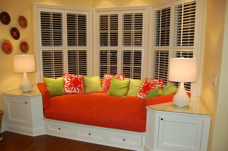 bay window seat design ideas Orange