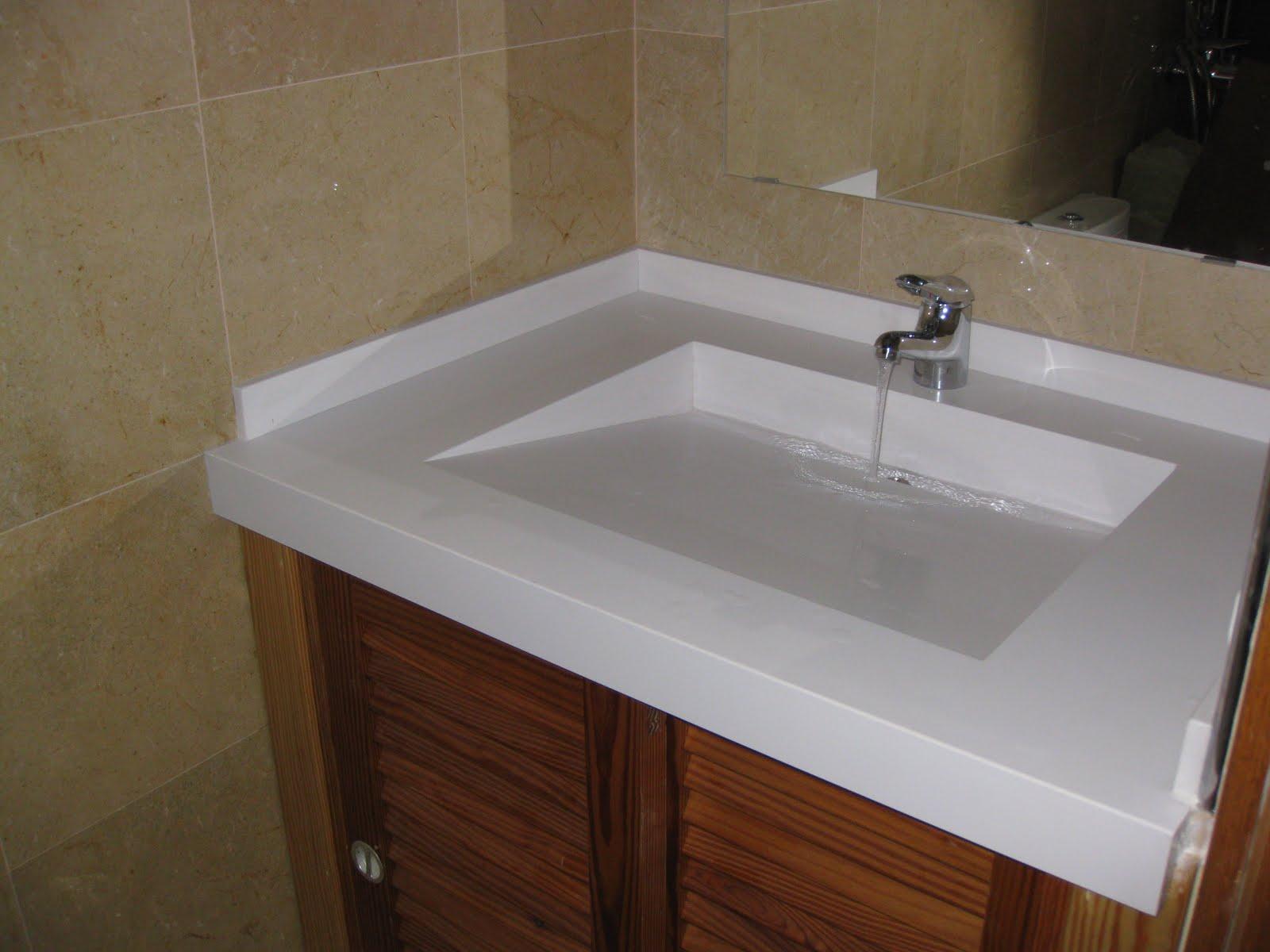 Piedralia global s l encimera de lavabo en cuarzo blanco for Encimeras de cuarzo