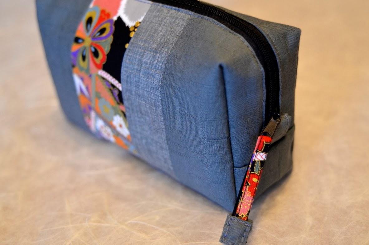 Kosmetiktasche KAMAKURA aus japanischen Stoffen von NORIKO handmade, Japan, Design, Schminktäschchen
