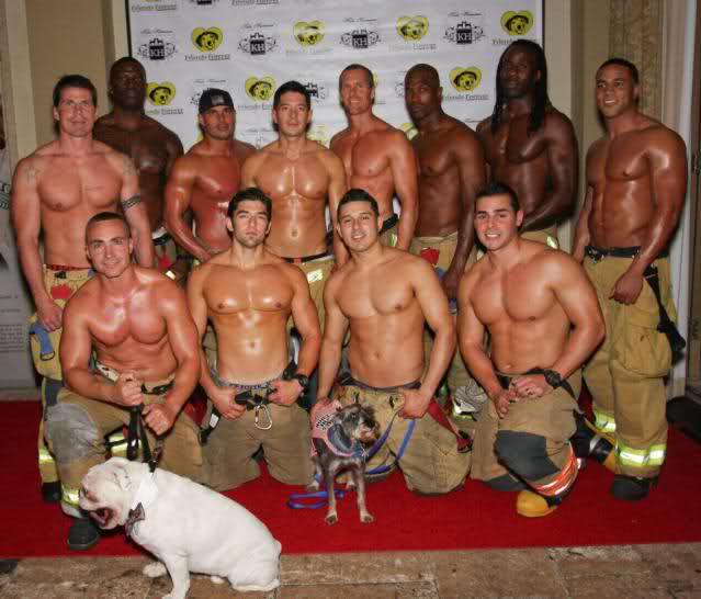 Hot naked male firemen consider, that