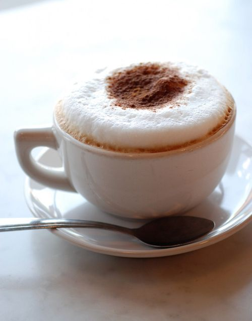 a lovely and perfect cappuccino