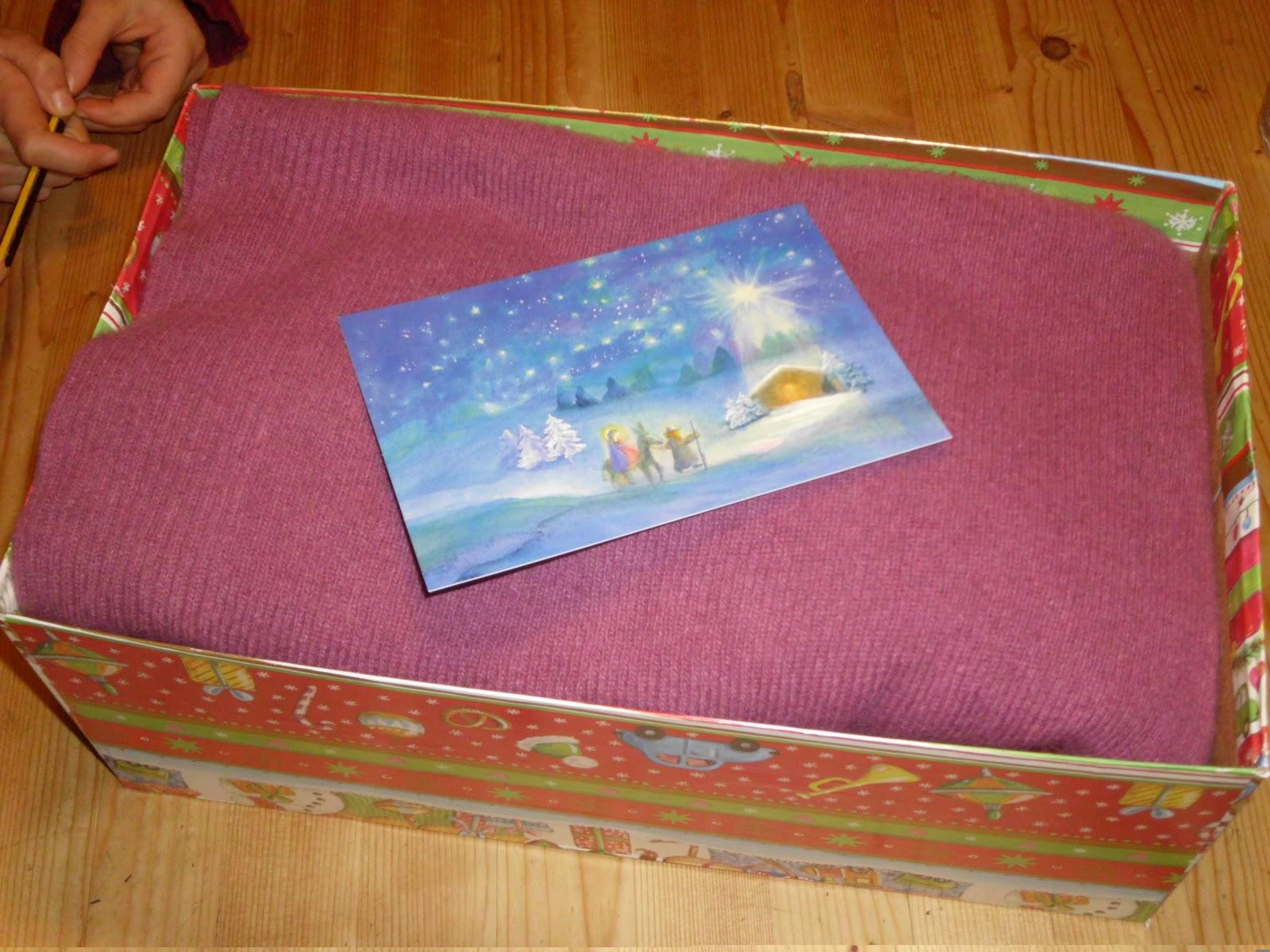 siebensachen weihnachten im schuhkarton. Black Bedroom Furniture Sets. Home Design Ideas