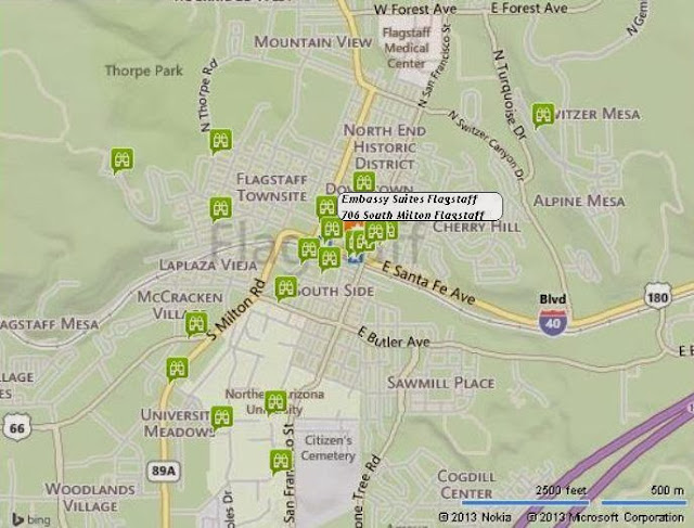 Map of TripAdvisors' Top Things To Do in Flagstaff