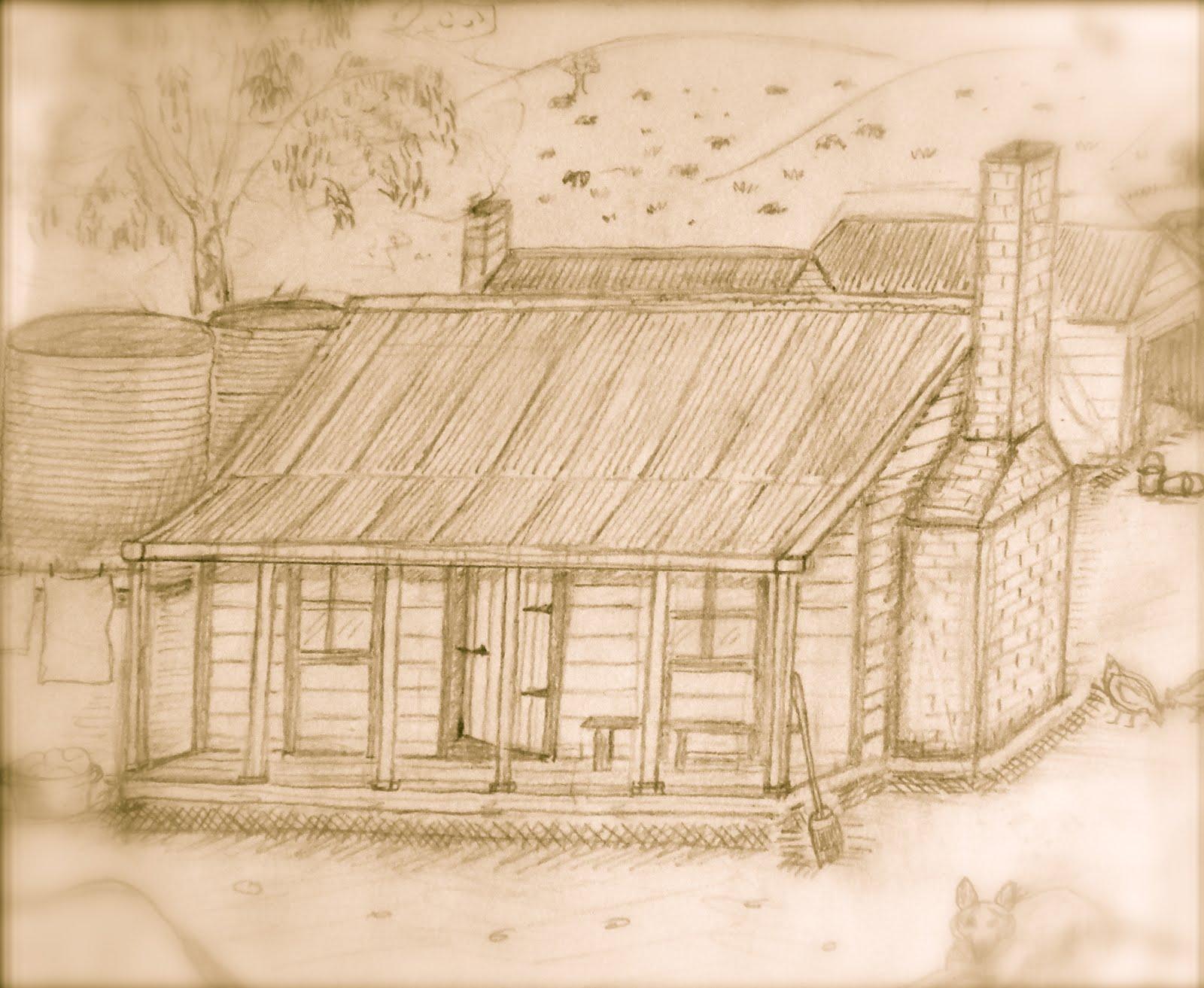 19th century Australian selector's homestead