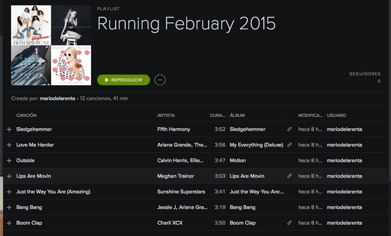 February 2015 Running Playlist