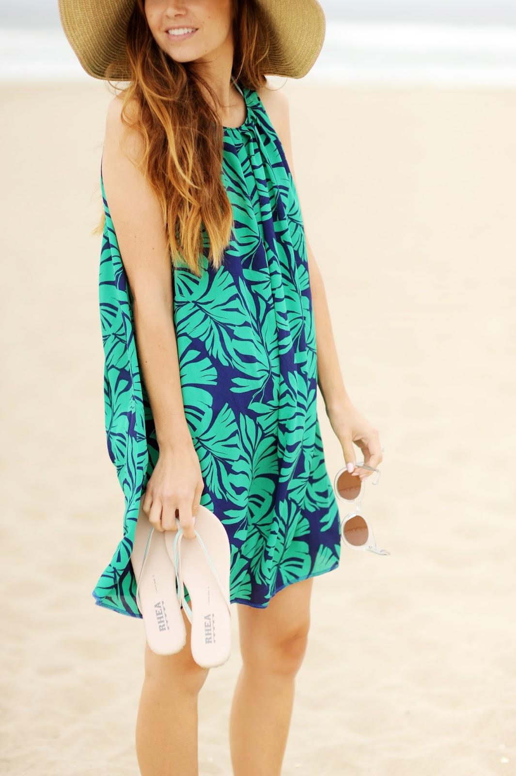 a0bede2d2511 Details: beach dress, made by me | similar beach hat | asos glasses (under  $30!) | target blanket | old navy beach bag (old) | rhea sandals, c/o