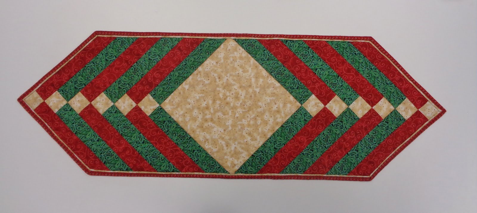 Festive Table Topper with Faux Piped Binding