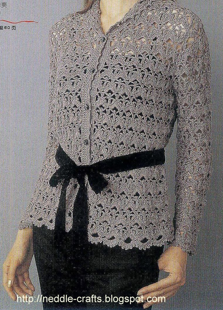 بلوزات كروشيه شتوي http://neddle-crafts.blogspot.com/2011/10/3-three-different-crochet-bluses-very.html