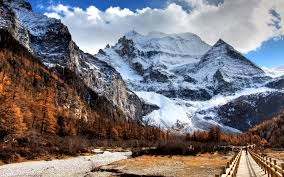 snowy mountain peak wallpaper beautiful nature wallpaper and images