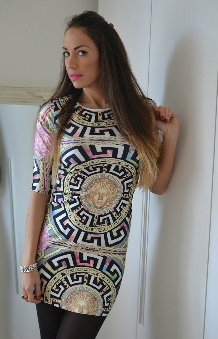 versace inspired dress