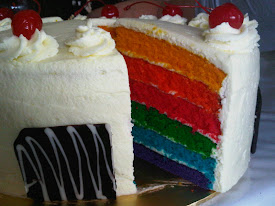 RAINBOW CAKE LEMON CREAM CHEESE FILING