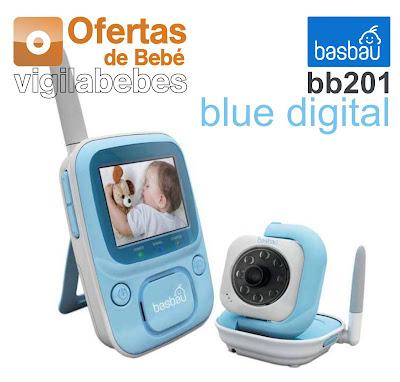 intercomunicador con cámara digital basbau bb201 blue digital