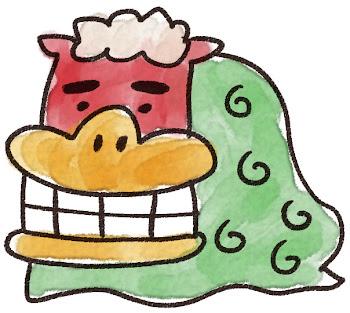 獅子舞のイラスト(お正月)