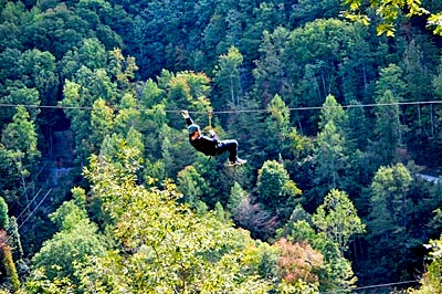 Ziplining in the Great Smoky Mountains