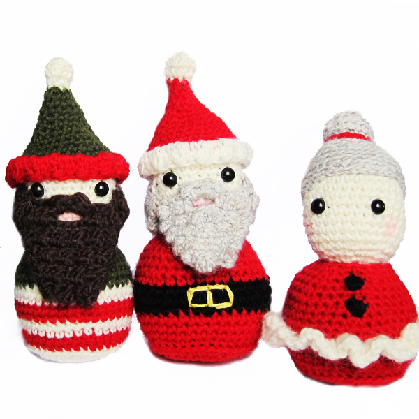 Amigurumi Santa Patterns : Roaming Pixies: Christmas Amigurumi Crochet Pattern ...