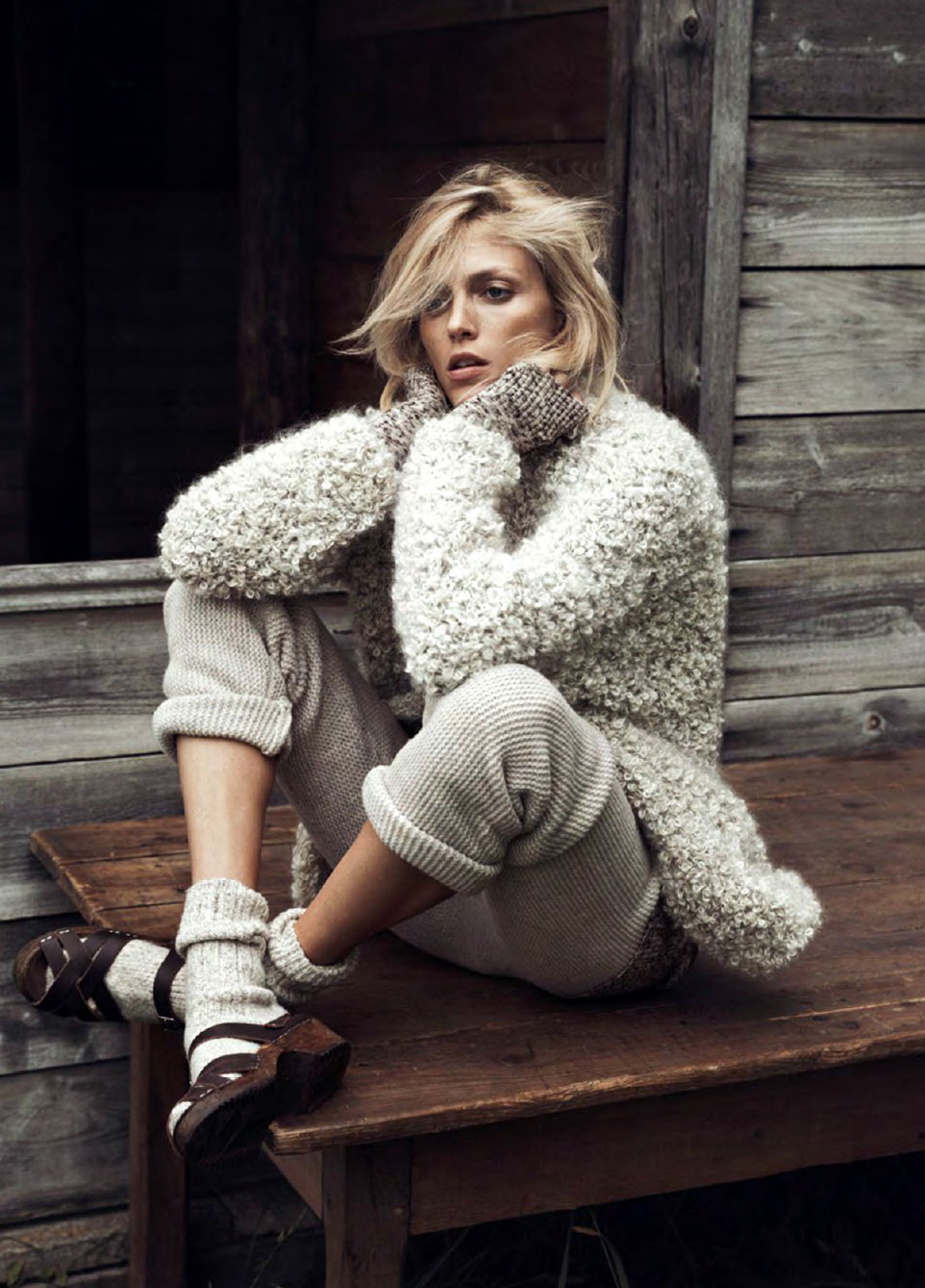 Anja Rubik in Into the Wild | Vogue Paris October 2014 (photography: Lachlan Bailey, styling: Geraldine Saglio)