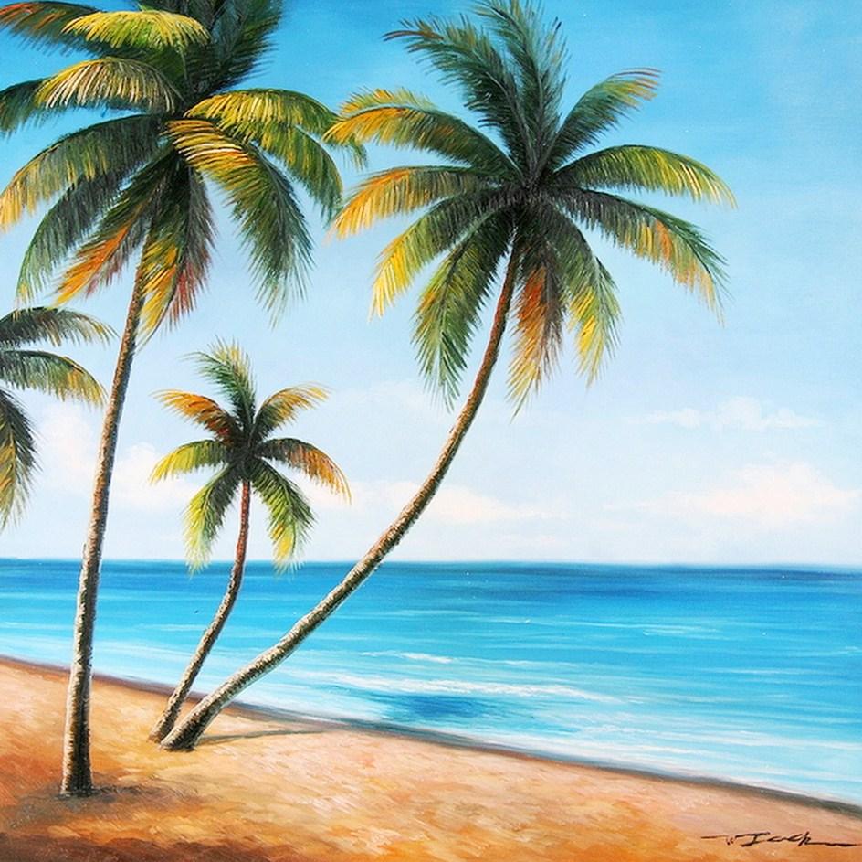 paisajes con palmas cuadros de paisajes con palma paisajes con