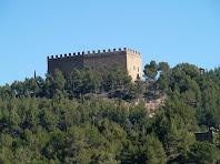 El Castell de Balsareny des de l'antiga carretera de Berga