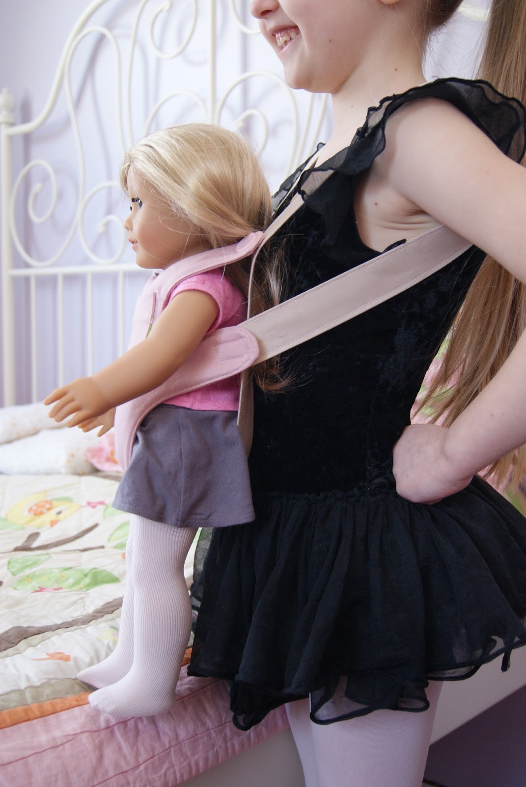 18-inch doll carrier by nest full of eggs