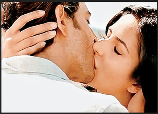 Katrina Kaif and Hrithik Roshan Kissing Scene 2014