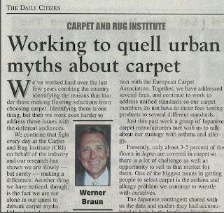 Quelling Urban Carpet Myths With Japanese Industry: Werner Braun
