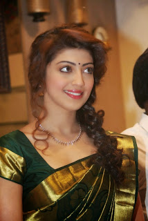 Pranitha Latest Pictures in Green Saree at R.S. Brothers Launch ~ Celebs Next