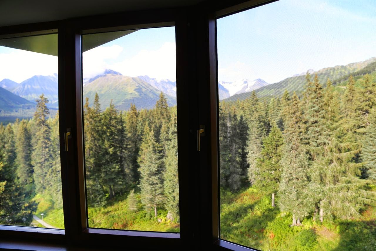 View from my window, Alyeska Resort hotel, Alaska