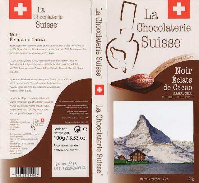 tablette de chocolat noir gourmand la chocolaterie suisse noir eclats de cacao
