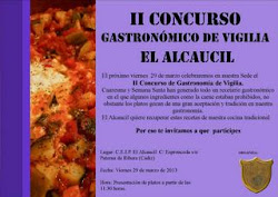 "II CONCURSO GASTRONÓMICO DE VIGILIA ""EL ALCAUCIL"