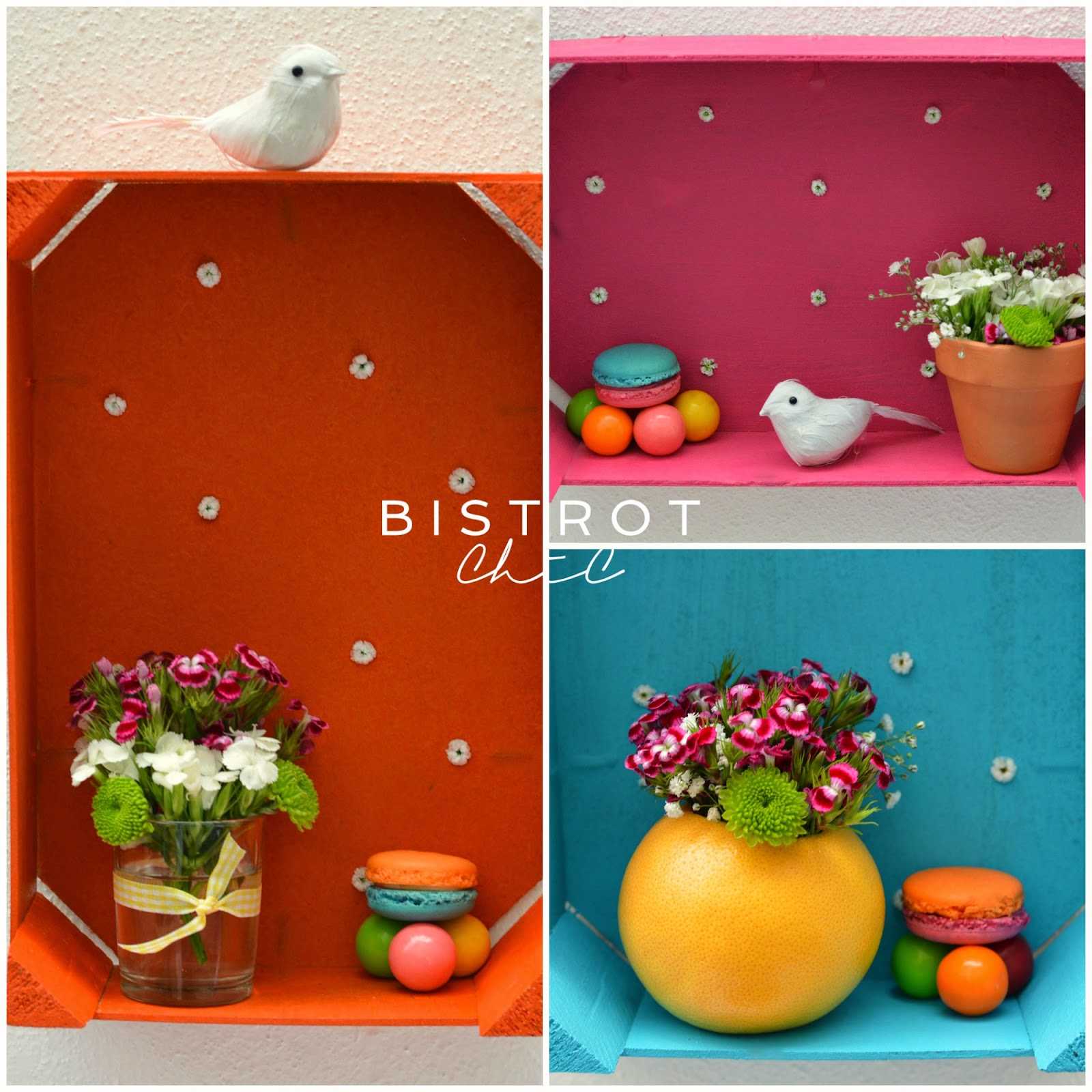 Spring Party Colorful Wood Crates by BistrotChic