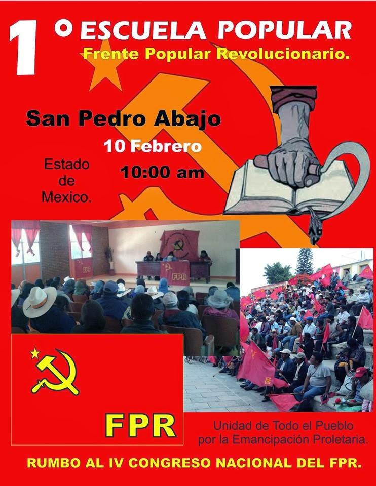 1er Escuela Popular del FPR en Estado de México