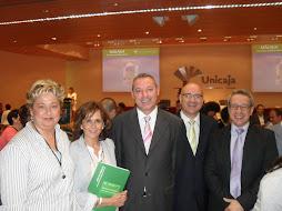 El consejero de educación junto a otras autoridades en Málaga Excelencia Educativa.