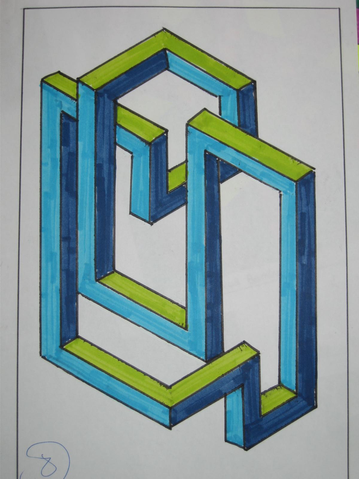 Okuda delimbo gallery arte urbano graffiti figuras - Figuras geometricas imposibles ...