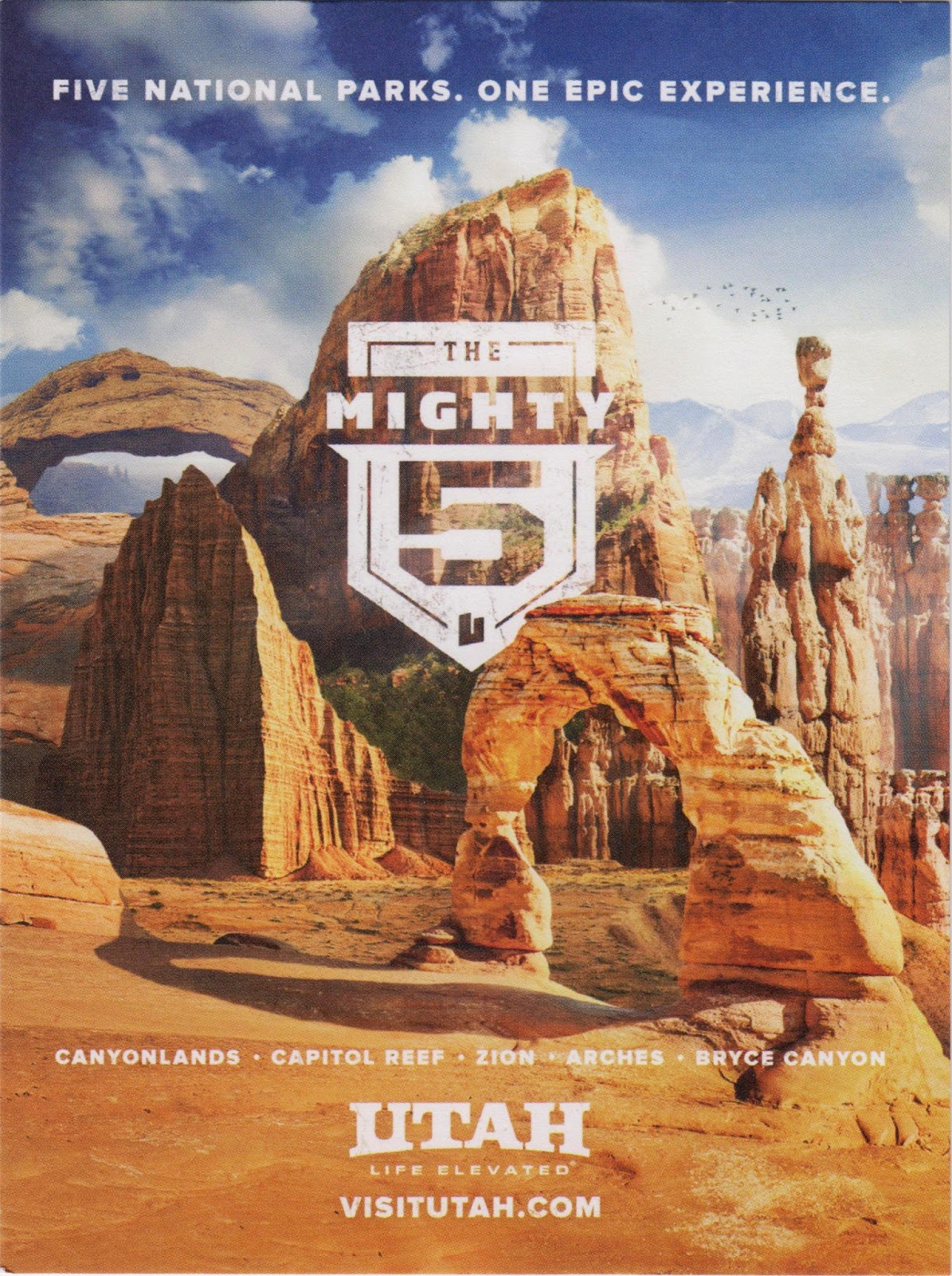 one postcard a day: mighty 5 in utah
