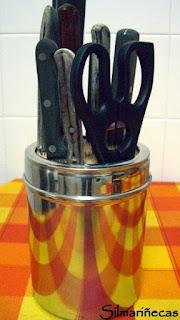 diy: bote para cuchillos con palillos de brocheta-