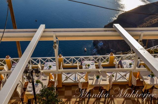 Santorini Greece by Monika Mukherjee