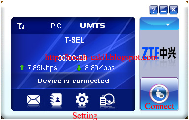 Setting Modem ZTE MF100 dengan Kartu Telkomsel , Halo, As, Simpati
