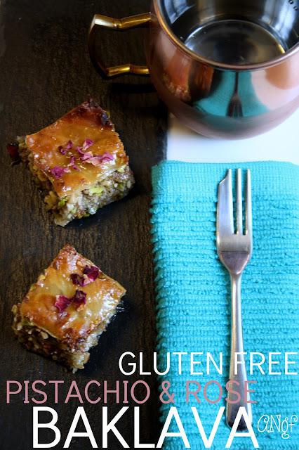 Gluten Free Pistachio & Rose Baklava from Anyonita-Nibbles.co.uk