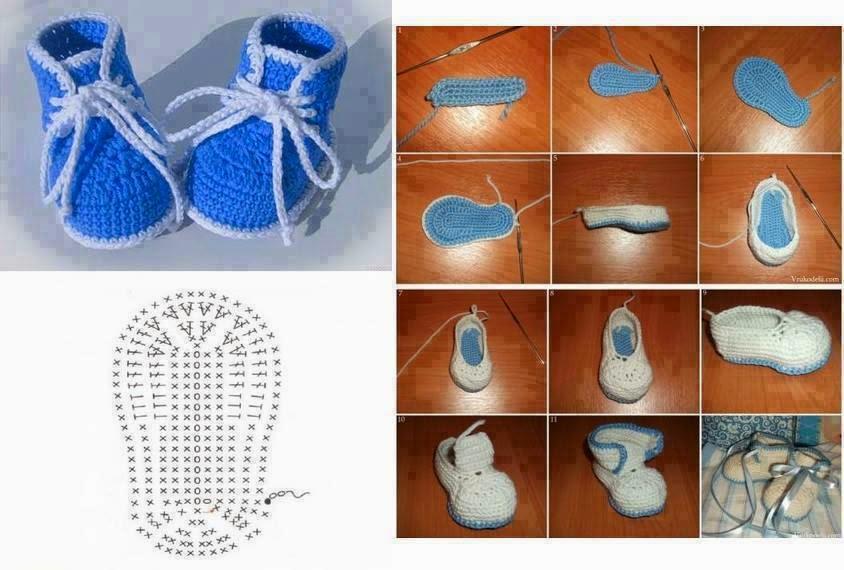 Patucos escarpines al crochet