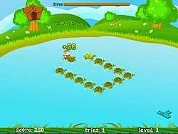 Chimpy nhảy trên lưng rùa, game van phong