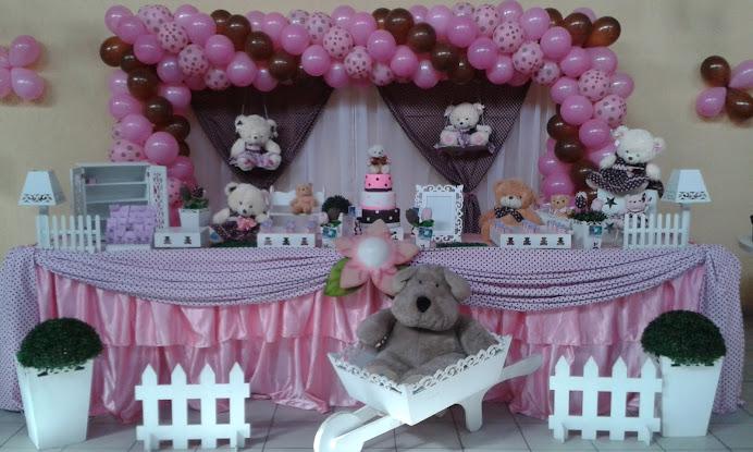 Ursos rosa e marrom com tela de PDS