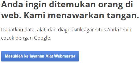 Sign in Google Webmaster